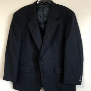 44S BOTANY  500 NAVY PISTRIPE 2 BUTTON SPORTS COAT